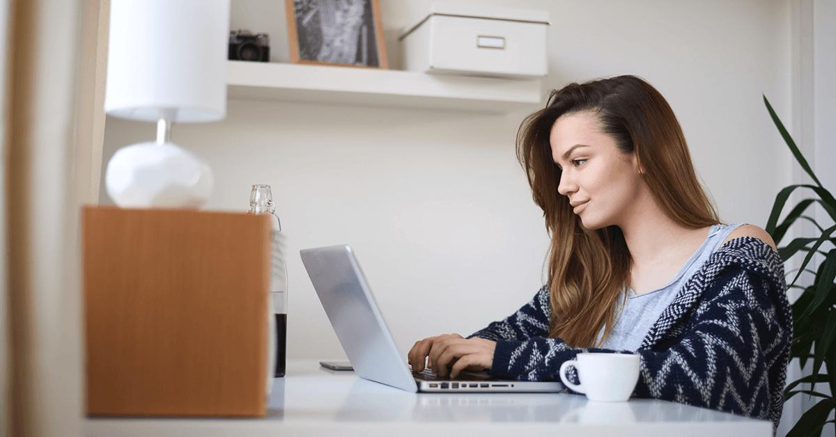 home office - mulher trabalhando