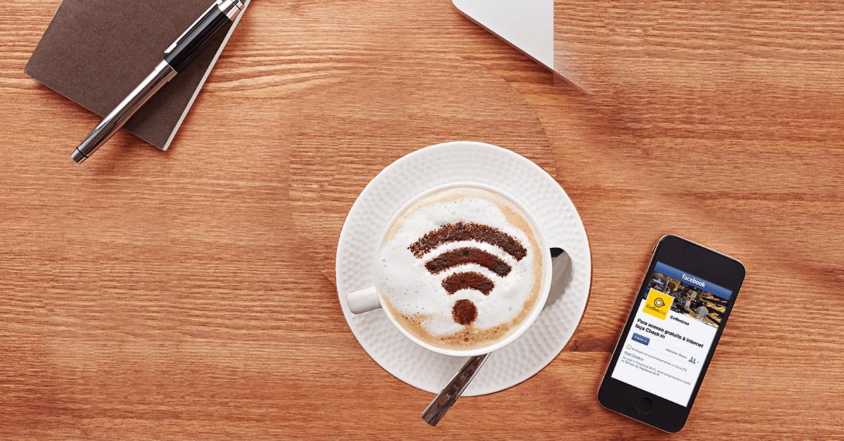 wi-fi para clientes - facebook no celular