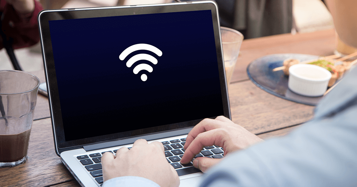 sinal do wi-fi no computador